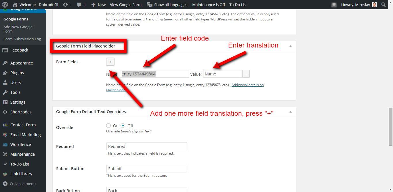 Translate Google Forms