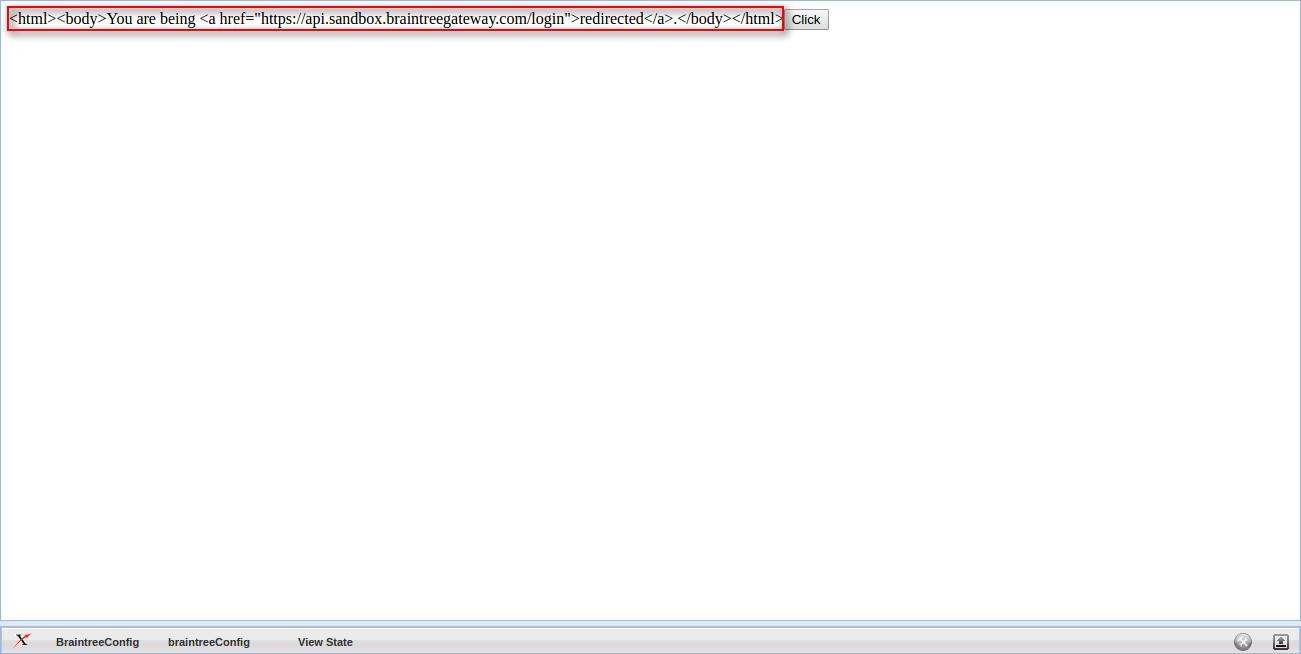 Page Editor - BraintreeConfig